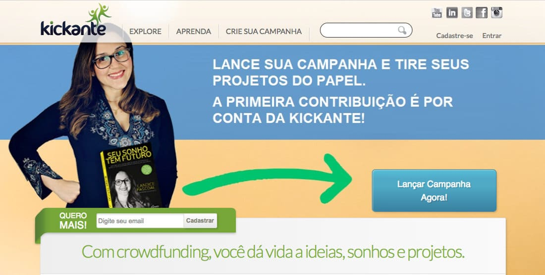 Kickante - Crowdfunding e Financiamento Coletivo