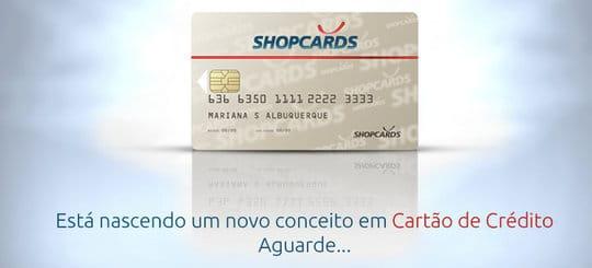 shopcards cartão de credito