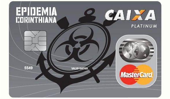 Cartão Epidemia Corinthiana da Caixa
