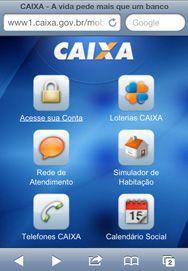 CAIXA no Celular e Tablet com Aplicativos Site CAIXA Móvel